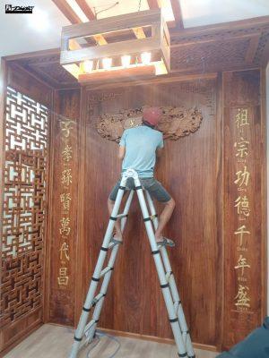 Vách ngăn và không gian thờ 274 Nguyễn Tri Phương 1